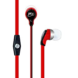 MEElectronics RX12P In-Ear Headphones with Inline Microphone - Red