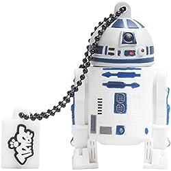 Tribe FD007407 Disney Star Wars Pendrive 8 GB Simpatiche Chiavette USB Flash Drive 2.0 Memory Stick Archiviazione Dati, Portachiavi, R2-D2 (C1-P8), Bianco