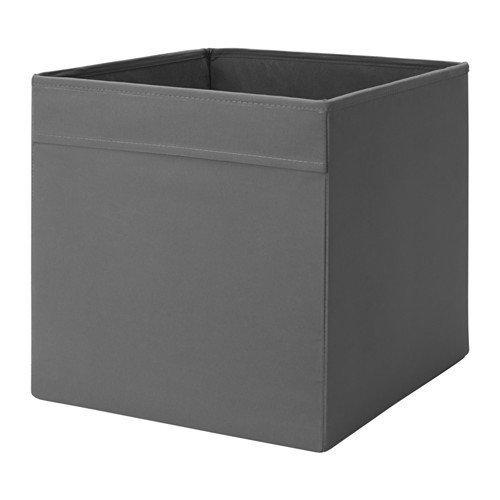 IKEA-Regalfach-DRNA-Aufbewahrungsbox-Regaleinsatz-in-33x38x33-cm-BxTxH-GRAU-passend-fr-Kallax-Expedit-Besta-etc