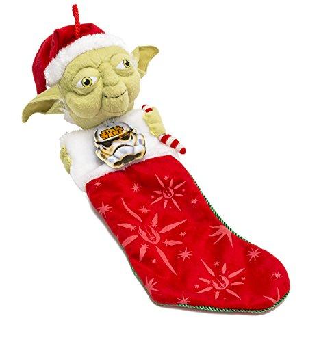 Kurt Adler Star Wars Yoda with Candy Cane Plush Head Stocking, 22-Inch