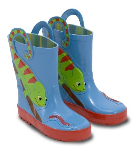 Melissa & Doug Kid's Sunny Patch Verdie Chameleon Boots,Blue,10-11 M US Little Kid (Rain Boots Melissa compare prices)