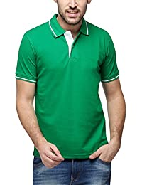 Campus Sutra Men Polo Neck With Tipping T-Shirt - B01BTR8IMY