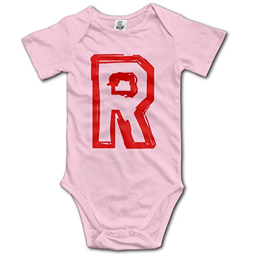 NICKY Short Sleeve Romper Vest Newborn BabyTeam Rocket R Adult Size 18 Months Pink. (Jessie From Team Rocket)