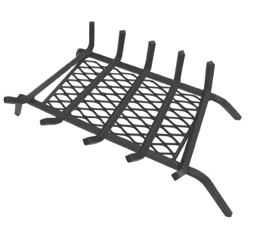 "Read About Landmann USA 97235 1/2"" Steel Fireplace Grate with Ember Retainer, 23"", 5 Bars"