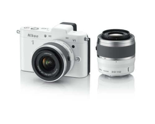 Nikon デジタル一眼カメラ Nikon 1 (ニコンワン) V1 (ブイワン) ダブルズームキット ホワイト N1 V1WZ WH