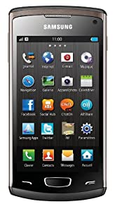 Samsung Wave 3 GT-S8600 Smartphone Quadri-bande HSDPA/3G+ Bluetooth A-GPS Noir métallique