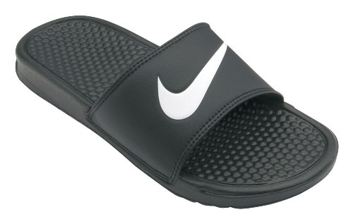 Nike Men'S Nike Benassi Swoosh Slide Sandals 9 (Black/White)