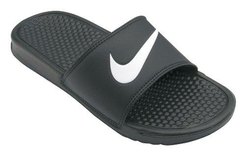 Nike Benassi Swoosh Style: 312618-011 Size: 10 M Us Black White