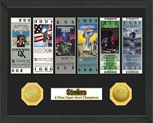 Highland Mint Pittsburgh Steelers Super Bowl Champions Ticket Collection