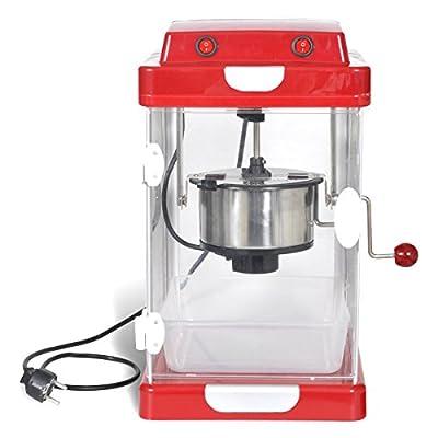 Profi Popcorn Maschine roten Retro-Design mit Edelstahl-Topf 310W von vidaXL bei Gartenmöbel von Du und Dein Garten