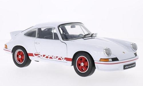 PoRSche 911 Carrera RS, white/red, 1973, Model Car, Ready-made, Welly 1:18 (Porsche 911 Model Car compare prices)