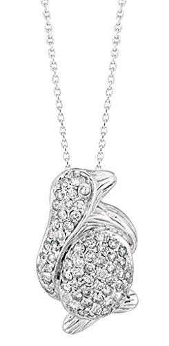 0.61 carat Round diamond white gold 14K penguin diamond pendant jewelry