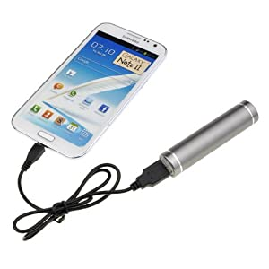 Grey Universal USB Power Bank External Emergency Battery Charger for Cellphone