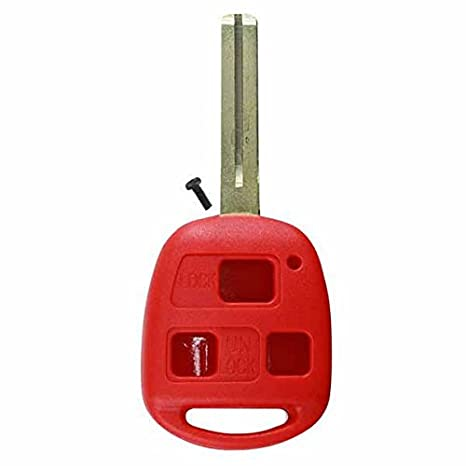 KeylessOption Keyless Entry Remote Control Car Key Fob Replacement for 25678792-Red