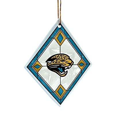 NFL Jacksonville Jaguars Art Glass Ornament