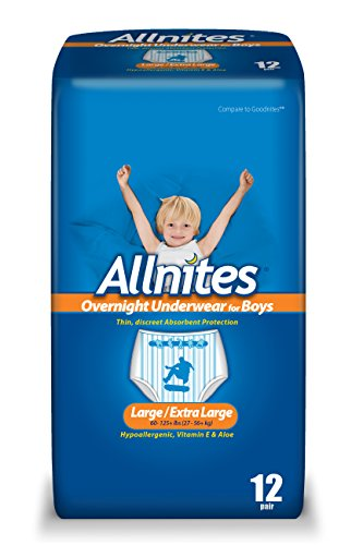 Allnites Youth Pants for Boys, 12 Count (Pack of 4)