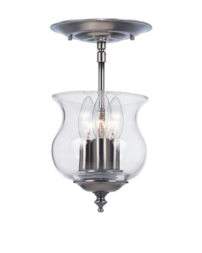 Gold Coast Lighting Prentiss Semi Flush Mount, Pewter