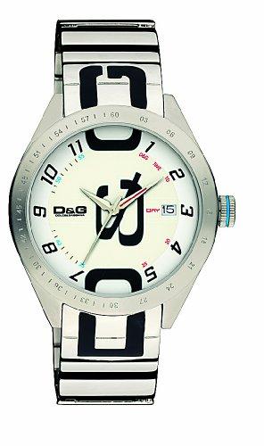 D&G Dolce & Gabbana DW0318 - Orologio da polso da uomo, cinturino in acciaio inox colore argento