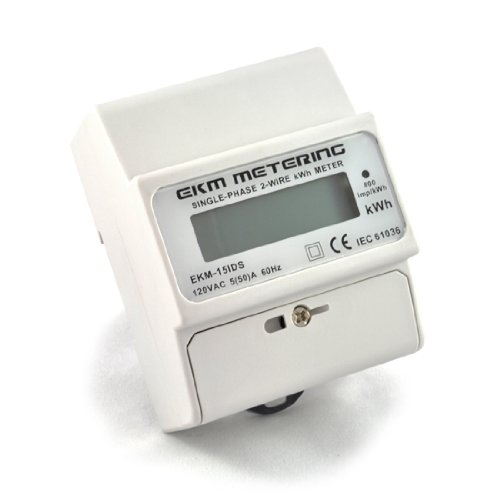 Electric Kwh Meter, 120 Volt, 2-Wire, 60Hz, Up To 50A