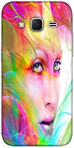 Snoogg Colorful Hair Woman 2769 Designer Protective Back Case Cover For Samsu...