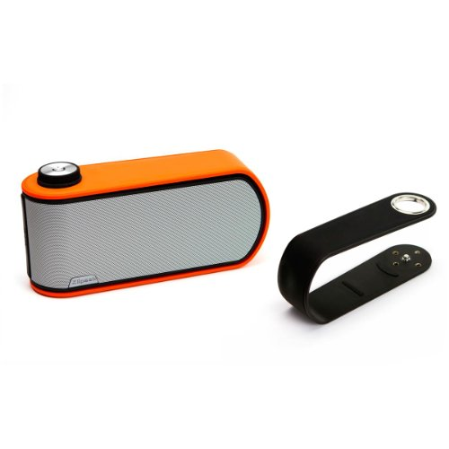 Klipsch Gig Portable Wireless Music System With Aptx Bluetooth And Additional Color Band (Black Speaker With Black And Orange Color Bands)