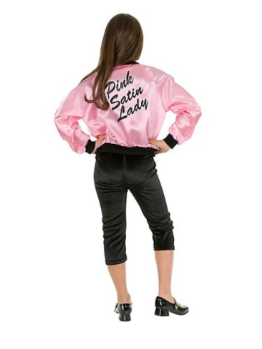 Kids Ladies Satin Jacket In Pink Costume