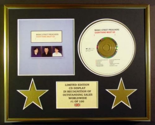 MANIC STREET PREACHERS/CD Display/Limitata Edizione/Certificato di autenticità/EVERYTHING MUST GO
