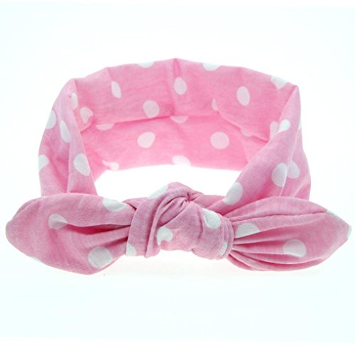 Yoyorule-New-Baby-Rabbit-Ears-Elastic-Wave-Point-Bowknot-Headband-Pink