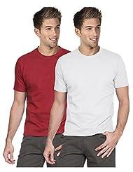 Blackburne Inc Men Round Neck T-shirt Pack Of 2 Red White
