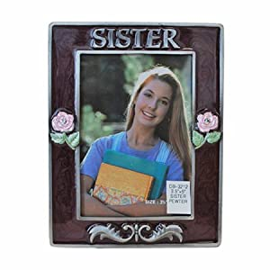 """3.5"""" x 5"""" Sister Pewter Picture Frame"""