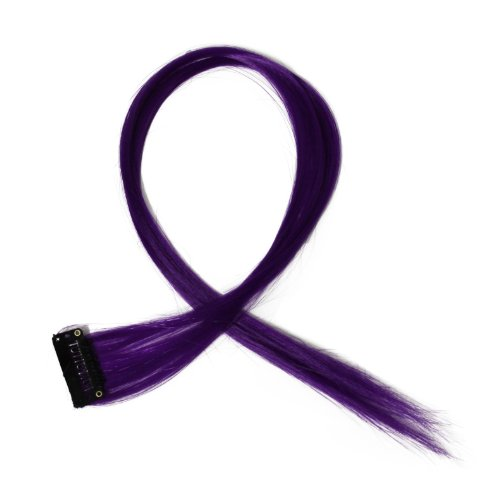 """Bunte Strähnchen 1 x Clip In Extensions 50cm (20"""") Haarverlängerung glatt langhaarHaarteil (1)"""