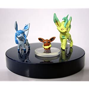 Pokemon 1/40 Real Scale Figure Part 3 - Eevee / Leafeon / Glaceon