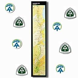 Appalachian Trail Strip Map Poster