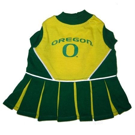 Pets First Oregon Ducks Team Pet Dog Cheer Leading Sports Outfit Extra Small