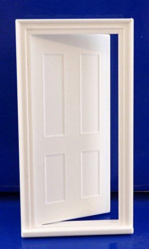 Constructeurs De Maison De Poupées BRICOLAGE 1:24 échelle Miniature Classique Plastique Blanc 4 Panneaux Porte