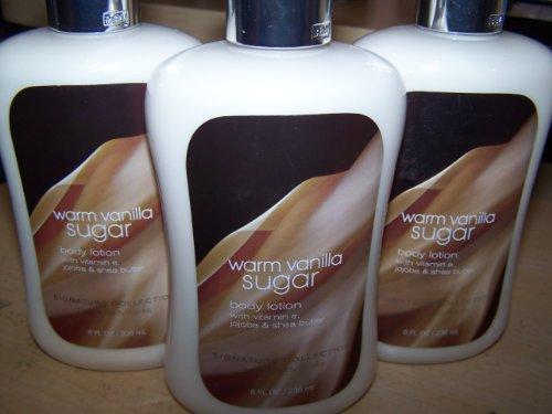 Lot Of 3 Bath & Body Works Warm Vanilla Sugar Body Lotion 8 Fl Oz (Warm Vanilla Sugar)