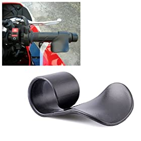 1x Black Motorcycle Cruise Assist Hand Rest Cruise Control Handlebar Universal Fit Grip