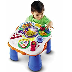 Fisher price jouet premier ge table rires veil jeux et jouets - Table de jeux fisher price ...