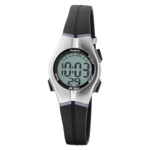 Armitron Women's 456963BLK Sport Chronograph Black Resin Strap Digital Display Watch