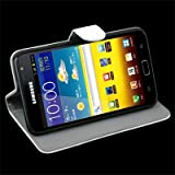 White Flip Stand Leather Case Hard Cover For Samsung Galaxy Note GT-N7000 i9220