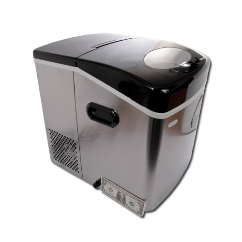 NewAir AI-210SS Portable Ice Maker With HighQuality Stainless Steel Finish