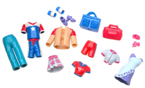 Imagen de Polly Pocket: Playset Refrigerio con las muñecas Polly y Steven y Scooters de dos