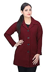 Romano Classy Red Dry Winter Wool Coat Jacket for Women
