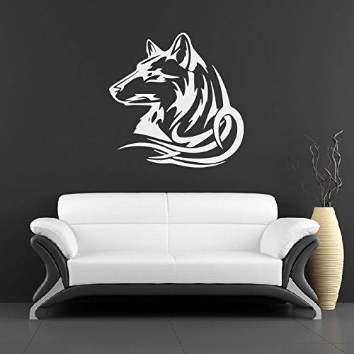 tribal-animales-lobo-pegatinas-de-pared-tatuajes-de-pared-arte-disponible-en-5-tamanos-y-25-colores-
