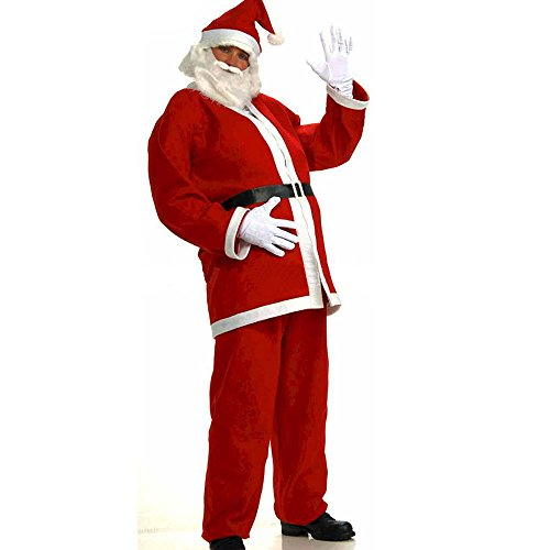 Hotshopping Santa Claus Costume Christmas Suit Costume Red