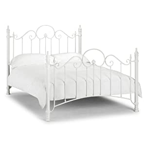 White metal bed frame queen - Julian Bowen Florence Bed 135 Cm Amazon Co Uk Kitchen Amp Home