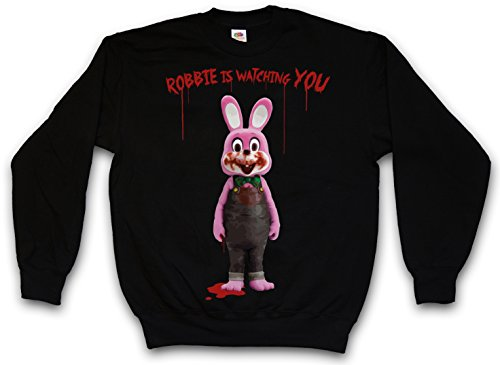 ROBBIE THE EVIL RABBIT PULLOVER SWEATER SWEATSHIRT MAGLIONE - Silent Horror Resident Movie Hill Evil Game Taglie S - 5XL