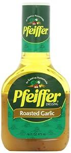 Pfeiffer Dressing, Roasted Garlic Vinaigrette, 16-Ounce Bottles (Pack of 6)