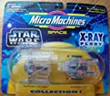 Star Wars 1995 Micro Machines X-Ray Fleet Darth Vader's Tie Fighter & A-Wing Starfigher