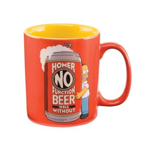 "Vandor 53828 The Simpsons ""Homer No Function"" 14 Oz Ceramic Mug, Multicolor"